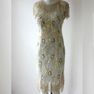 A.J. Bari Beaded Dress
